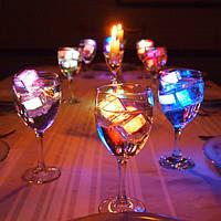 Светящие кубики льда или светящийся лед для напитков, коктейлей и шампанского