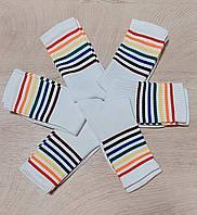 Носки 37-40 размер 6 пар высокие белые радуга плотные хлопок 6 шт. комплект упаковка женские / мужские