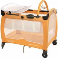 Кроватка-манеж Graco Contour Electra, цвет оранжевый