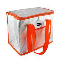 """Ізотермічна сумка-холодильник """"Sannea"""" Cooler Bag Помаранчева на 16 л, переносна термосумка для обідів"""