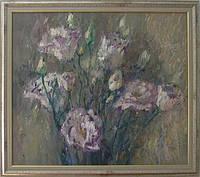 Картина маслом цветы «Букет роз» декорирование интерьеров