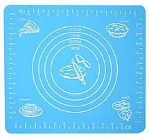 Силіконовий килимок для випічки 29x26 см, колір - Блакитний, килимок для розкочування тіста