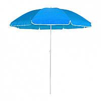"""Велика парасолька від сонця """"Stenson - Синя"""" 2,1 м, парасолька садова посилена (система ромашка) без нахилу"""