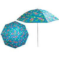 """Велика парасоля з УФ захистом Stenson 1.8 м """"Фламінго"""", сонцезахисна парасолька пляжна (зонт от солнца)"""
