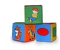 Набор из трёх мягких кубиков Розумна іграшка (BOC052441)