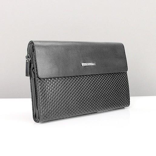 3d8ef393da09 Клатч средний кожаный мужской черный Armani 3511-2 - купить по ...