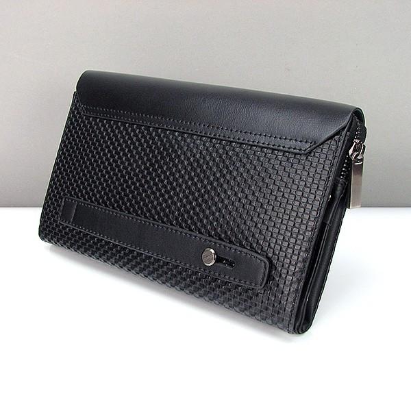 f7fc134c0057 Клатч большой кожаный мужской черный Armani 3511-3 - купить по ...