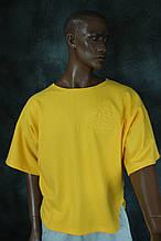 Футболка РАЗМАХАЙКА Gym Bodybuilding  размеры S. M  желтая