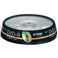 Диск DVD+R TDK 8.5GB 8X Cakebox 10шт (t19924)