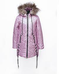 Красивый пуховик зимний для девочки для девочки размеры 134-158