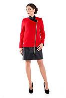 Женское демисезонное кашемировое пальто, красный