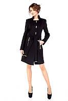 Демисезонное кашемировое женское пальто, черный