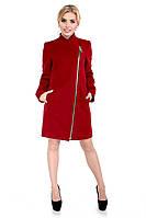 Женское кашемировое пальто, весна-осень, бордо