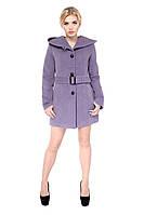 Кашемировое женское демисезонное пальто, фиолет