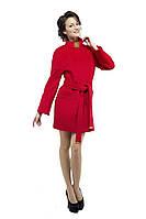 Женское шерстяное пальто весна-осень, бордо