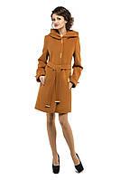 Пальто женское демисезонное, горчица