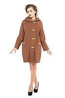 Пальто женское демисезонное кашемировое, коричневый