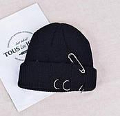 Шапка мужская / шапка Бини /шапка женская/ Шапка Кусто / шапка докера / черная шапка с кольцами