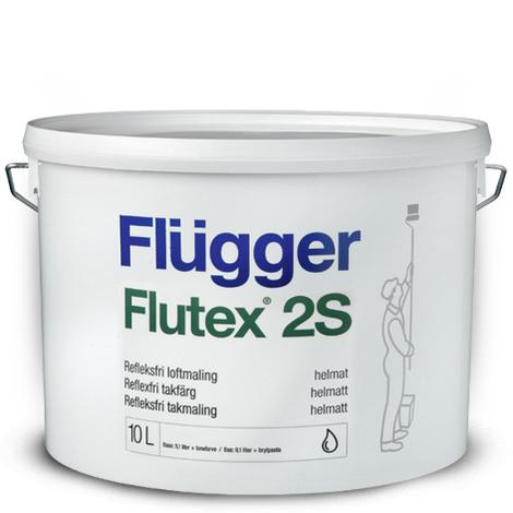 Краска Flügger Flutex 2S глубоко-матовая воднодисперсионная краска для потолка