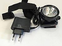 Фонарь налобный 390 (аккумулятор, зарядка в комплекте)