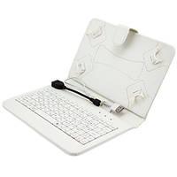 Универсальный чехол-клавиатура 7 дюймов Белый