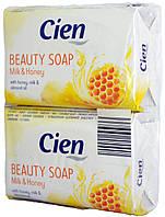 Мыло Cien Beauty Soap Milk-Honey 2*150г.