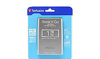 "Внешний жесткий диск Verbatim 1 ТБ USB 3.0 2.5"" 53023 Store n Go Silver"
