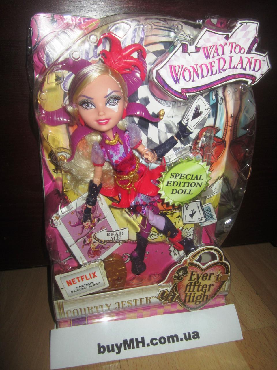 Кукла Кортли Джестер Ever After High Way Too Wonderland Courtly Jester, фото 1