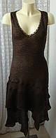 Платье женское теплое вязаное шерсть бренд Promod р.48 5389