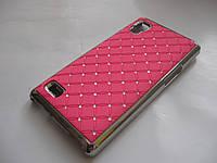 Чехол-бампер Стразы LG Optimus L9 P765 розовый