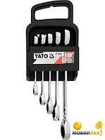"""""""YATO"""" (YT-5038) набор ключей накидных с трещоткой 5предм."""