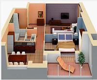 Технический дизайн двухкомнатной квартиры