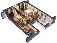 Технический дизайн трехкомнатной квартиры