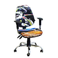 Кресло детское Бридж хром дизайн 2 Гонки, фото 1