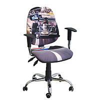 Кресло детское Бридж хром дизайн 1 Гонки, фото 1
