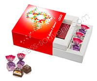 """Бизнес сувенир на 8 Марта """"2в1"""" - конфеты с миндалем и сувенир в брендированной коробке"""