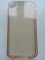 Ультратонкий золотой силиконовый чехол iphone 4/4s