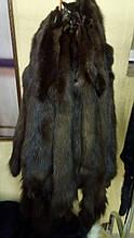 Шкуры мех куницы лесной тонированные в коричневый цвет, набор на шубу, жилет