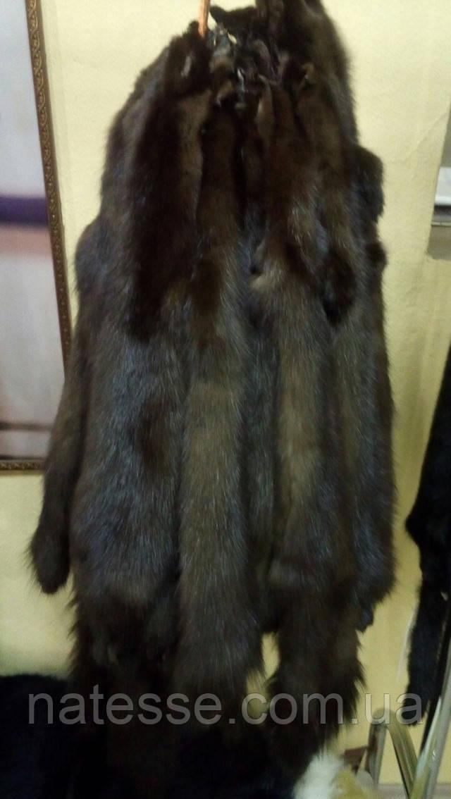 Купить шкурки куницы лесной тонированные темно-коричневые набор на шубу Киев Одесса Харьков Днепропетровск