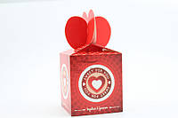 Маленькие подарочные коробочки из мягкого картона (бонбоньерки) 9х9х10 см. 4 расцветки