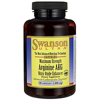 Аргинин Альфа-кетоглутарат Arginine AKG Swanson, 1000 мг 90 капсул