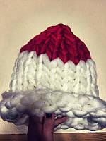 Модная женская шапка крупная вязка, разные расцветки
