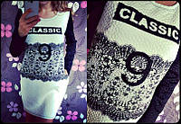 Платье с модным принтом 814