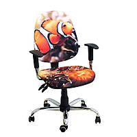 Кресло детское Бридж хром дизайн 6 Рыбка-клоун, фото 1