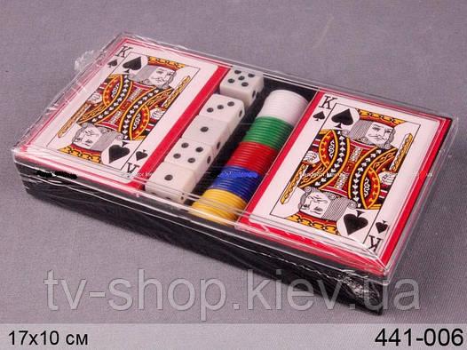 Игровой набор Покер\кости\фишки