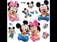 Виниловая наклейка для детей Микки  мышь