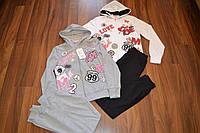 Спортивные трикотажные костюмы-двойки для девочек.Размеры 8-16.Фирма GRACE,Венгрия, фото 1