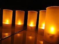 LED свічки в стаканчику (однотонні)