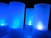 LED свічки в стаканчику (зі змінними кольорами)