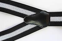Подтяжки 'Classic-Line' черные с белой полосой